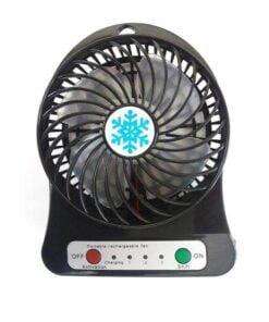 پنکه رومیزی شارژی کد 18650BLAC به همراه باتری