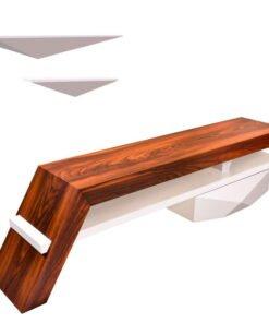 خرید میز تلویزيون راهپود مدل آفتابگردان به همراه طبقه دیواری