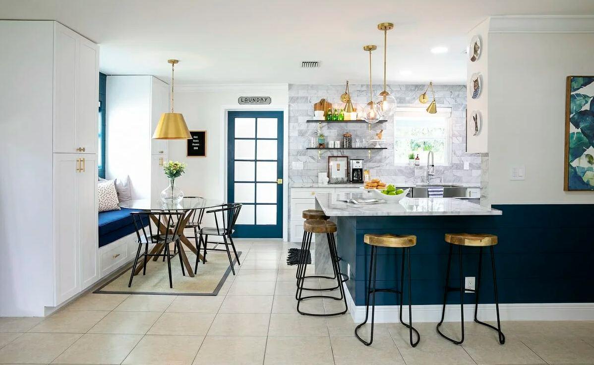اپن آشپزخانه مدرن برای دکوراسیون آشپزخانه
