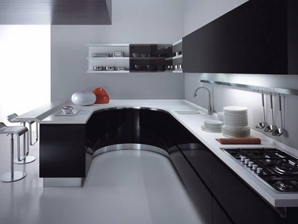 مدل جدید اپن آشپزخانه U شکل
