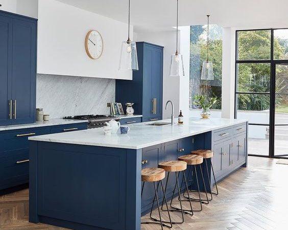 استفاده از انواع مدل سنگ اپن آشپزخانه بعنوان پوشش برای اپن آشپزخانه