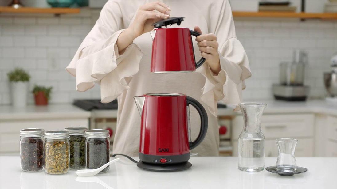 نحوهی تهیه چای در چای ساز