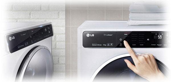 نمایشگر های دیجیتال در ماشین لباسشویی 10 کیلویی ال جی: