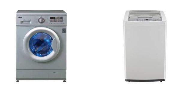 ماشینهای لباسشویی 10 کیلویی ال جی درب از بالا و درب از جلو