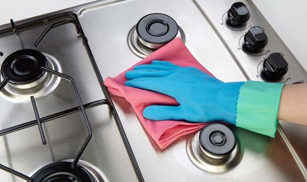 تمیز کردن اجاق گازهای استیل