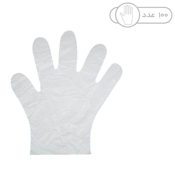 دستکش یکبار مصرف مدل 01 بسته 100 عددی