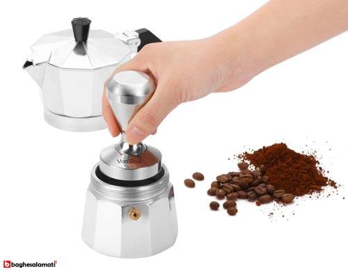 نحوه ی استفاده از تمپر مت قهوه