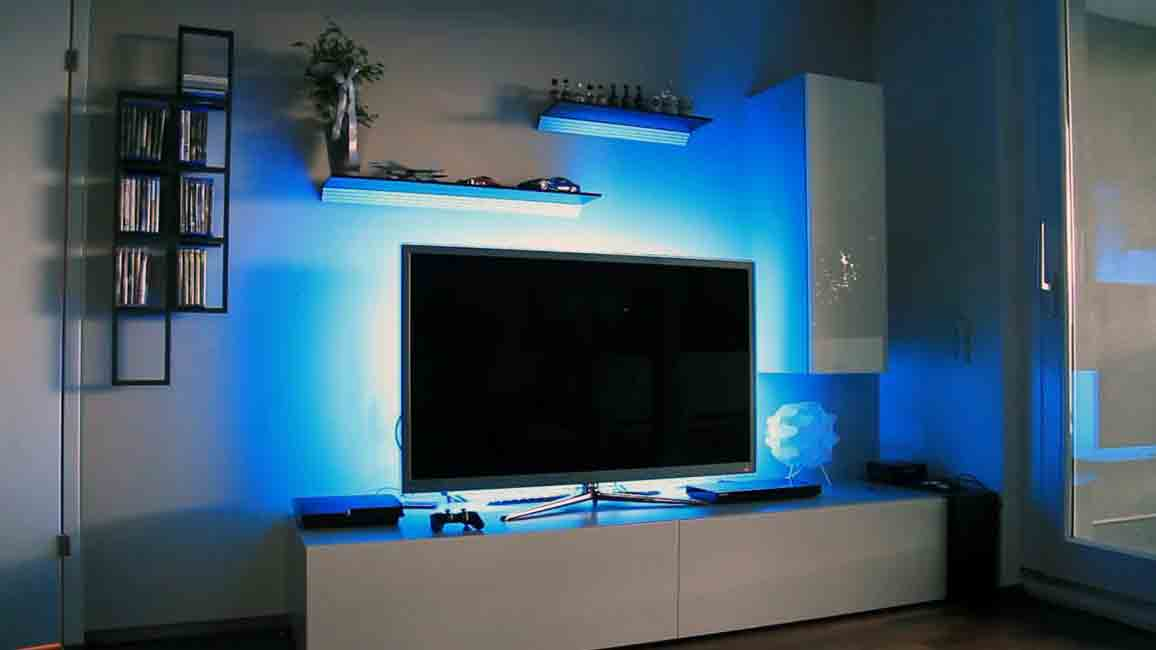میز تلویزیون چراغ دار
